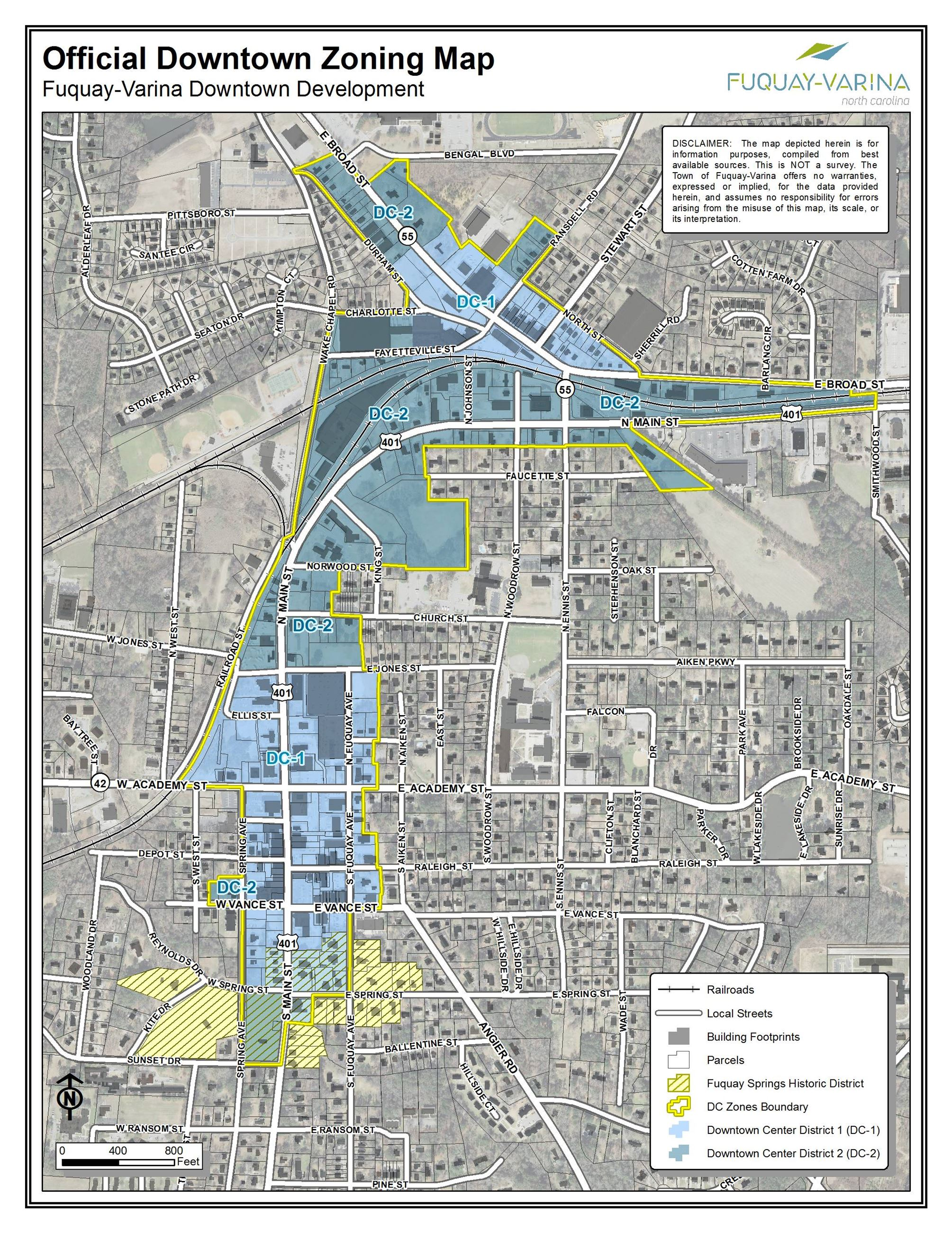 Official Downtown Zoning Map