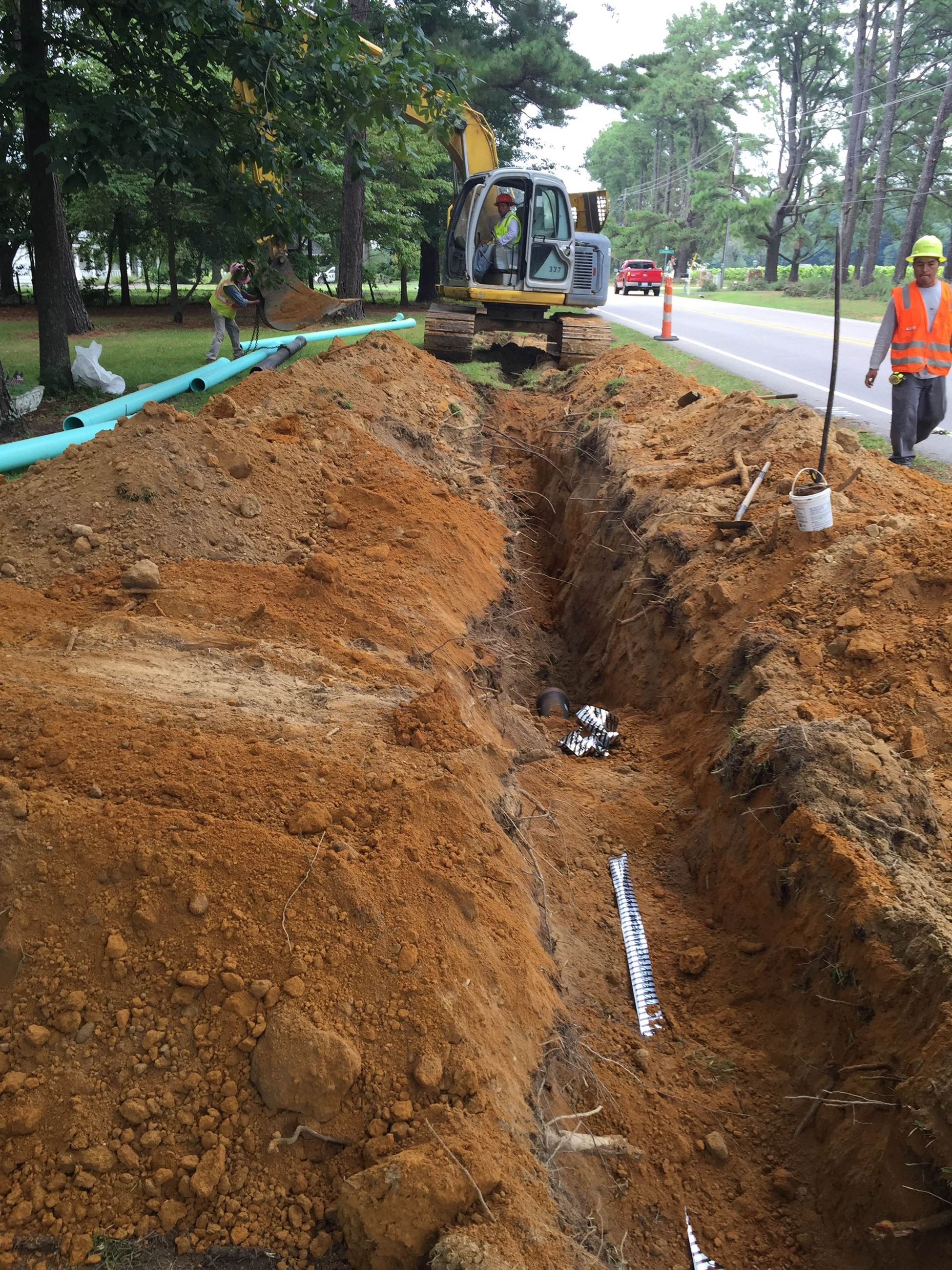 Utility Crew Working on Water Main